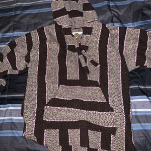 Pink and brown drug rug hoodie